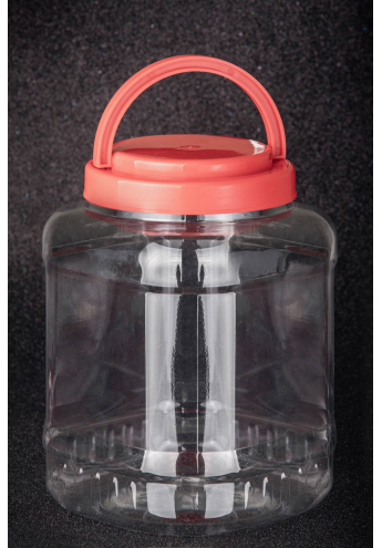 PET Plastic jar, volume - 3 l
